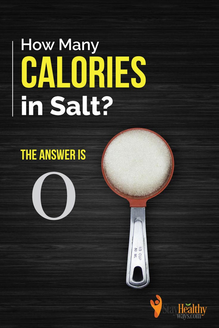 how many calories in salt infographic