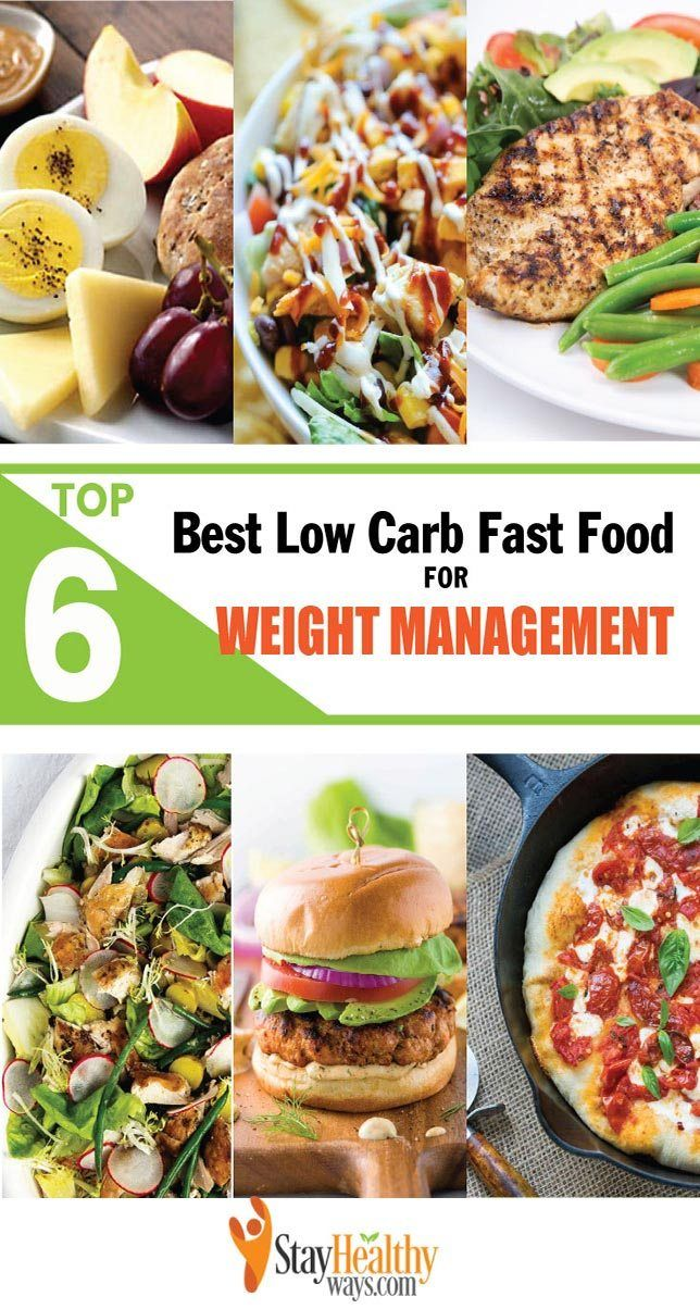 low carb fast food infographic