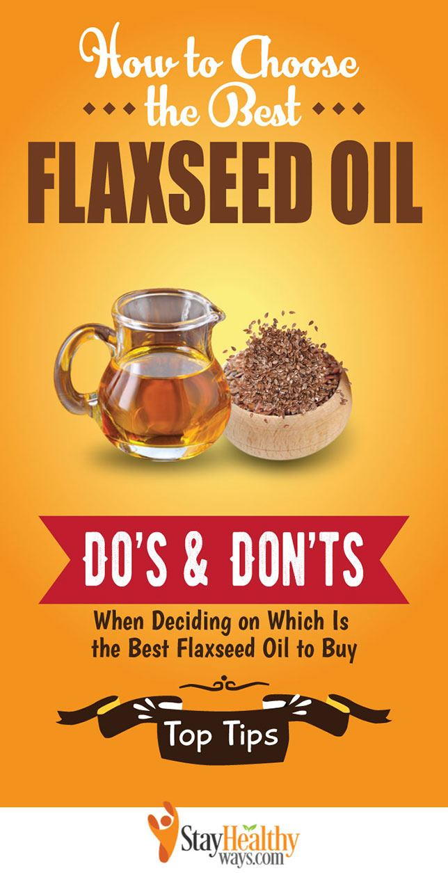 best flaxseed oil infographic